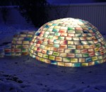 15 - The igloo lit up from the inside